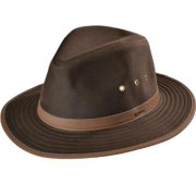 Outback Trading Hat Mens Quality Madison River Oilskin Leather 1462