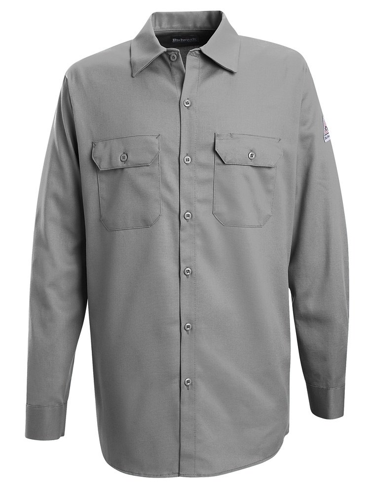 Bulwark FR Silver Grey Work Shirt - 7oz