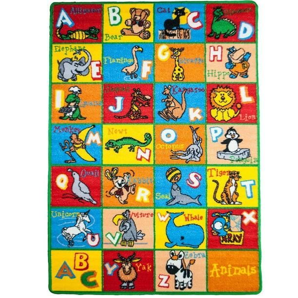 Kids Rug Alphabet Animals 5 X 7 Abc