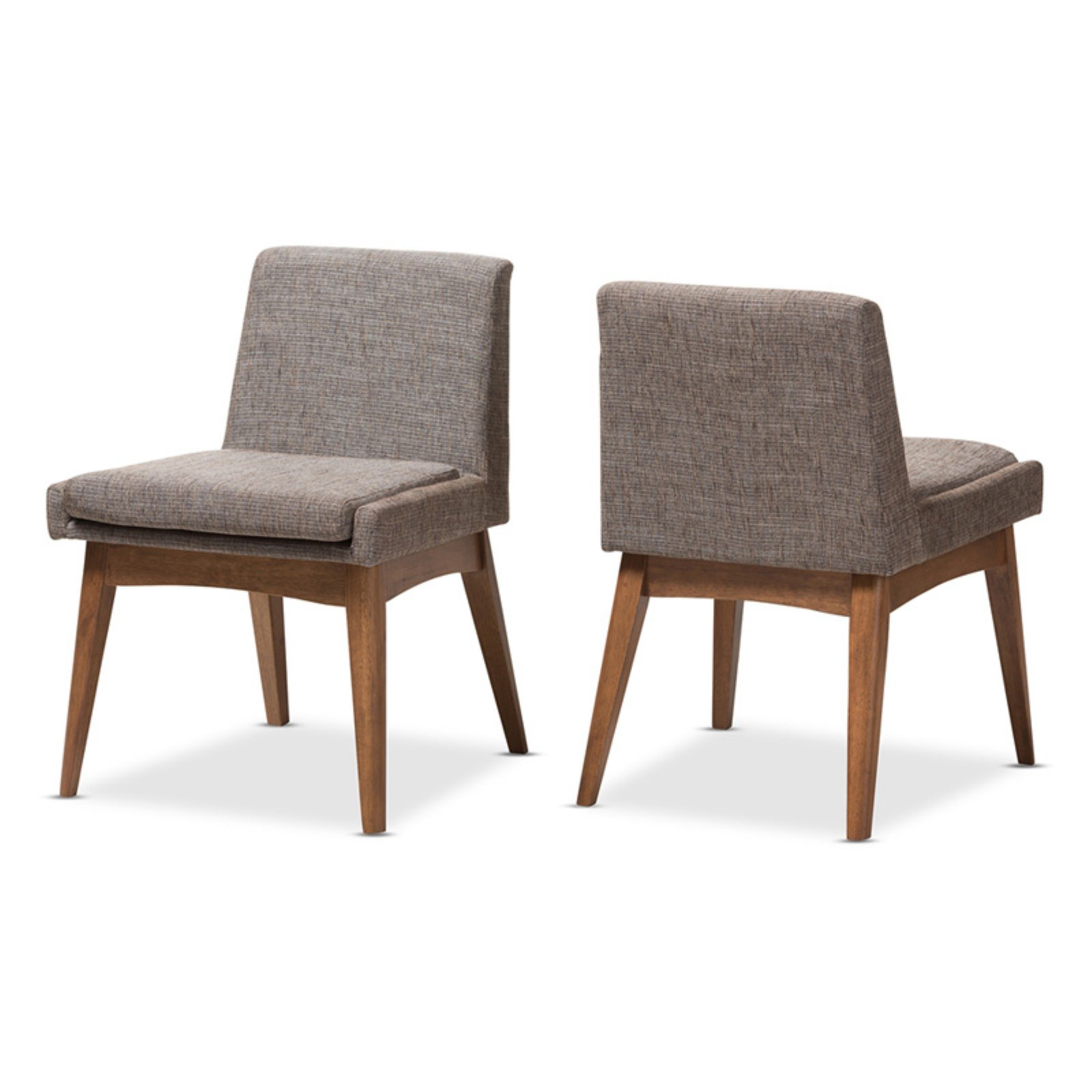 Upholstery For Dining Room Chairs: Baxton Studio Nexus Mid-Century Modern Walnut Finish And
