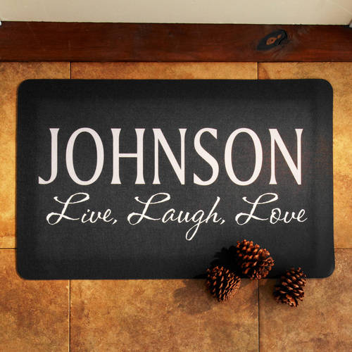 """Personalized Live, Love, Laugh Doormat, 24"""" x 36"""", Available in 4 Colors"""