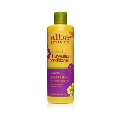 Hawaiian Hair Care Plumeria Replenishing Conditioner Alba Botanica 12 oz