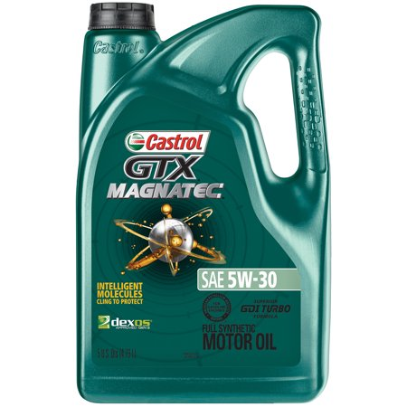 Castrol GTX MAGNATEC 5W-30 Full Synthetic Motor Oil, 5 (Whats The Best Car Oil)