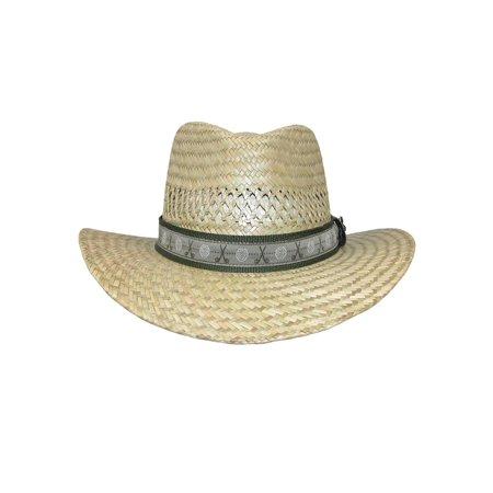 783decda4f737 Scala Classico Men s Rush Straw Safari Hat with Golf Club Pin and Hatband -  Walmart.com