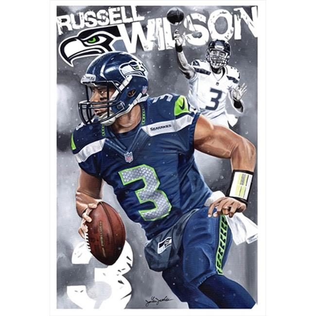 Deacon Jones Foundation JJ-04SW The Hawk Art Print, by Joshua Jacobs - Stretched and Wrapped