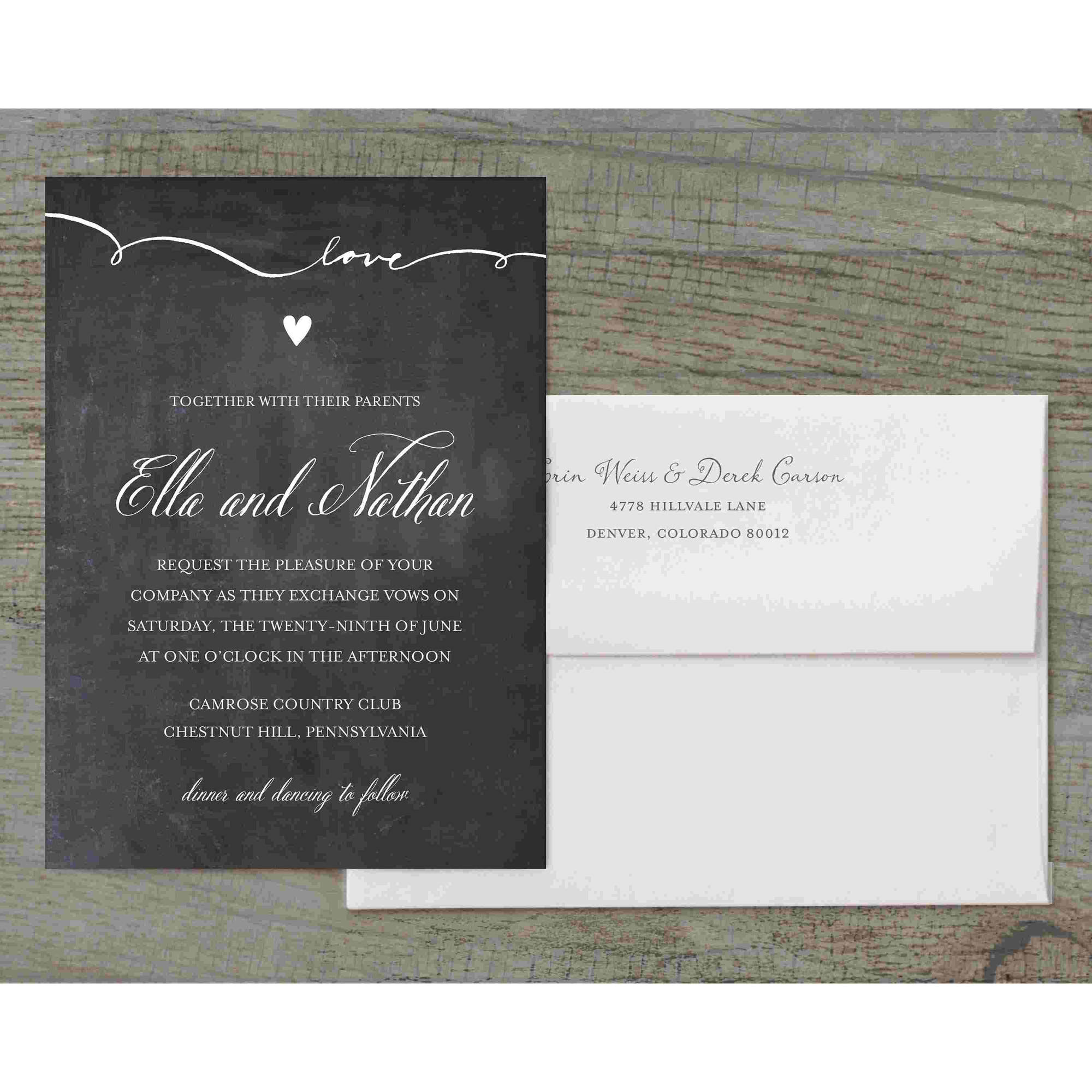Script Love Deluxe Wedding Invitation
