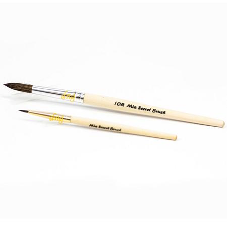 *LAWholesaleStore* Mia Secret Duo Acrylic Brush Set 10 R Round Nail professional 2 Brush (Duo Prop Set)