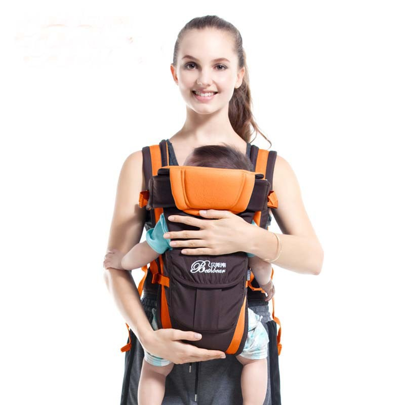Baby Sling Breathable Multifunctional Front Facing Comfortable Infant Sling Baby Backpack Pouch Wrap Baby... by VirtualStoreUSA.com
