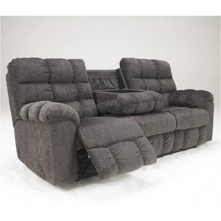 Miraculous Bowery Hill Microfiber Reclining Sofa In Slate Beatyapartments Chair Design Images Beatyapartmentscom