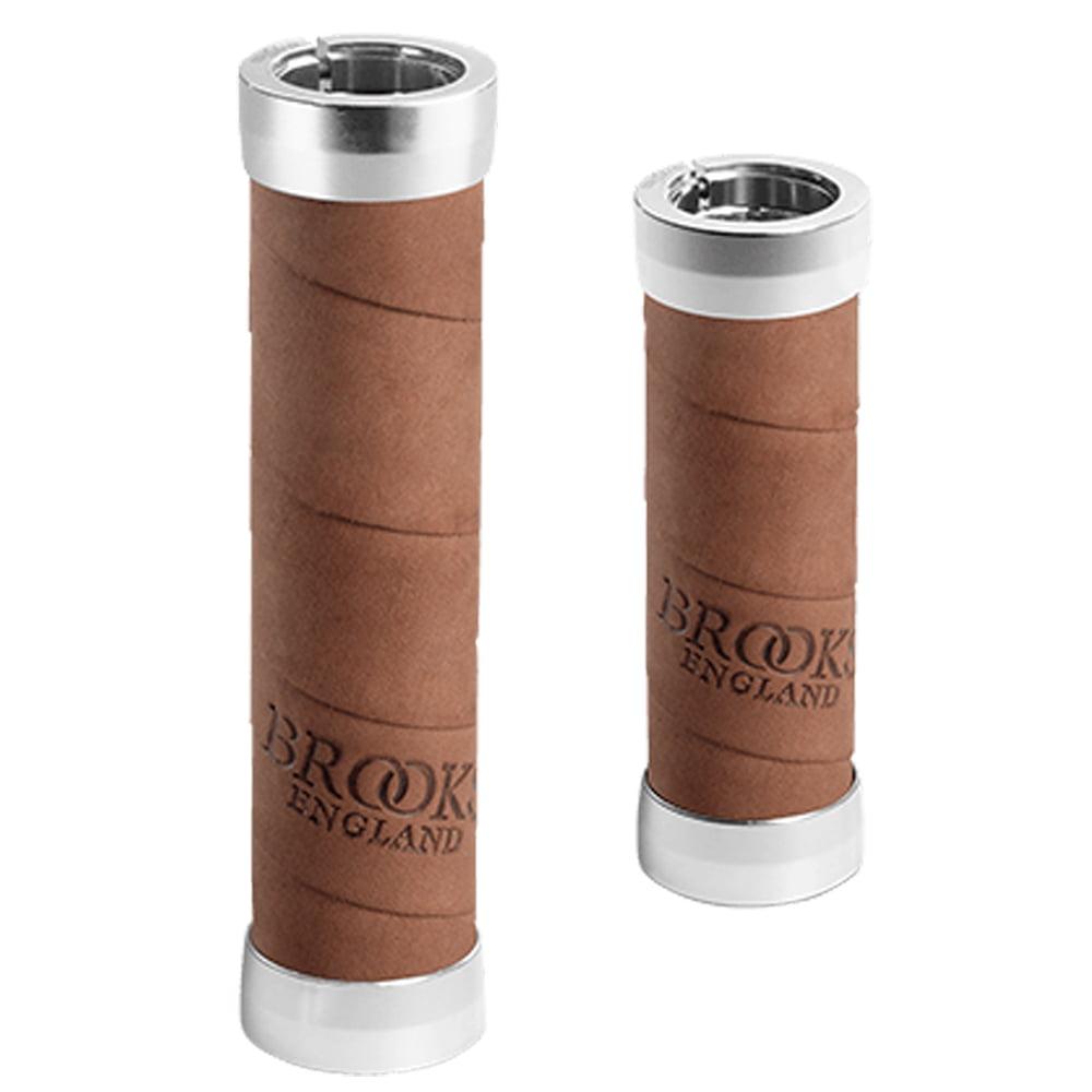 Brooks Slender Leather Grips for Twist Shifter 100/130mm - Honey Brown