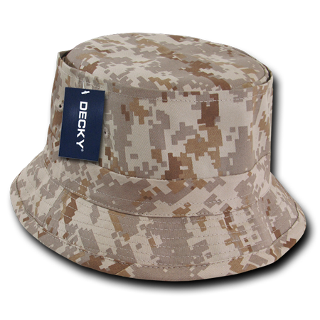 f042f16d2ec DECKY Fisherman s Bucket Constructed Cotton Hat Hats Caps Cap For Men Women  Desert Digital - Walmart.com