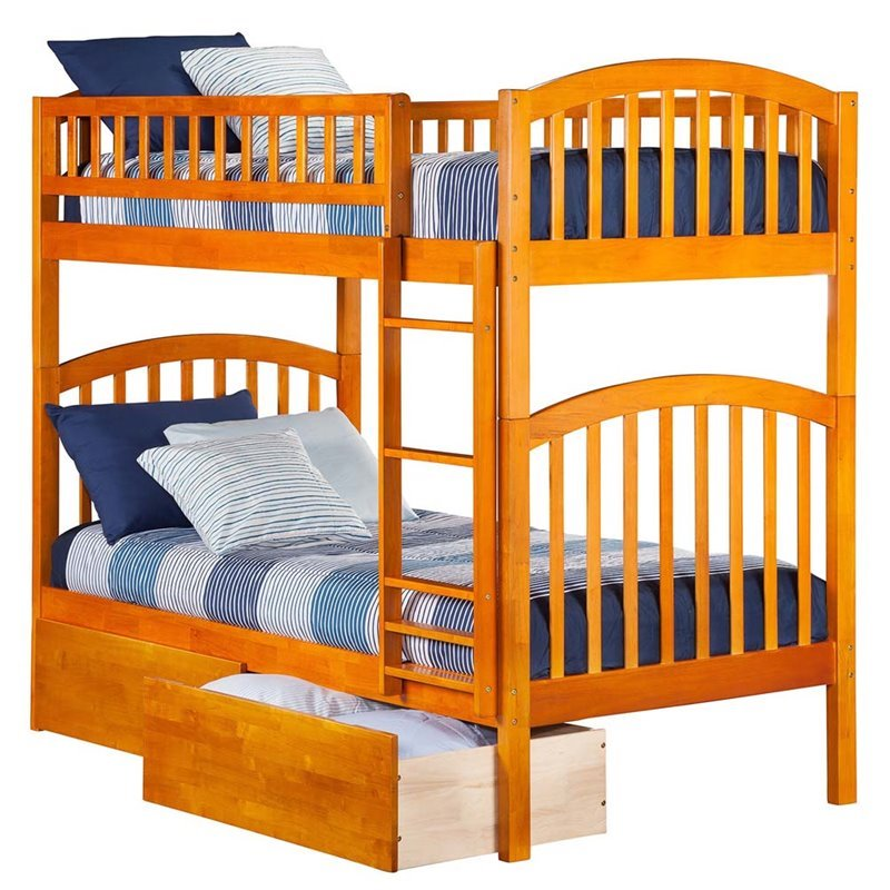 Leo & Lacey Urban Twin Over Twin Storage Bunk Bed