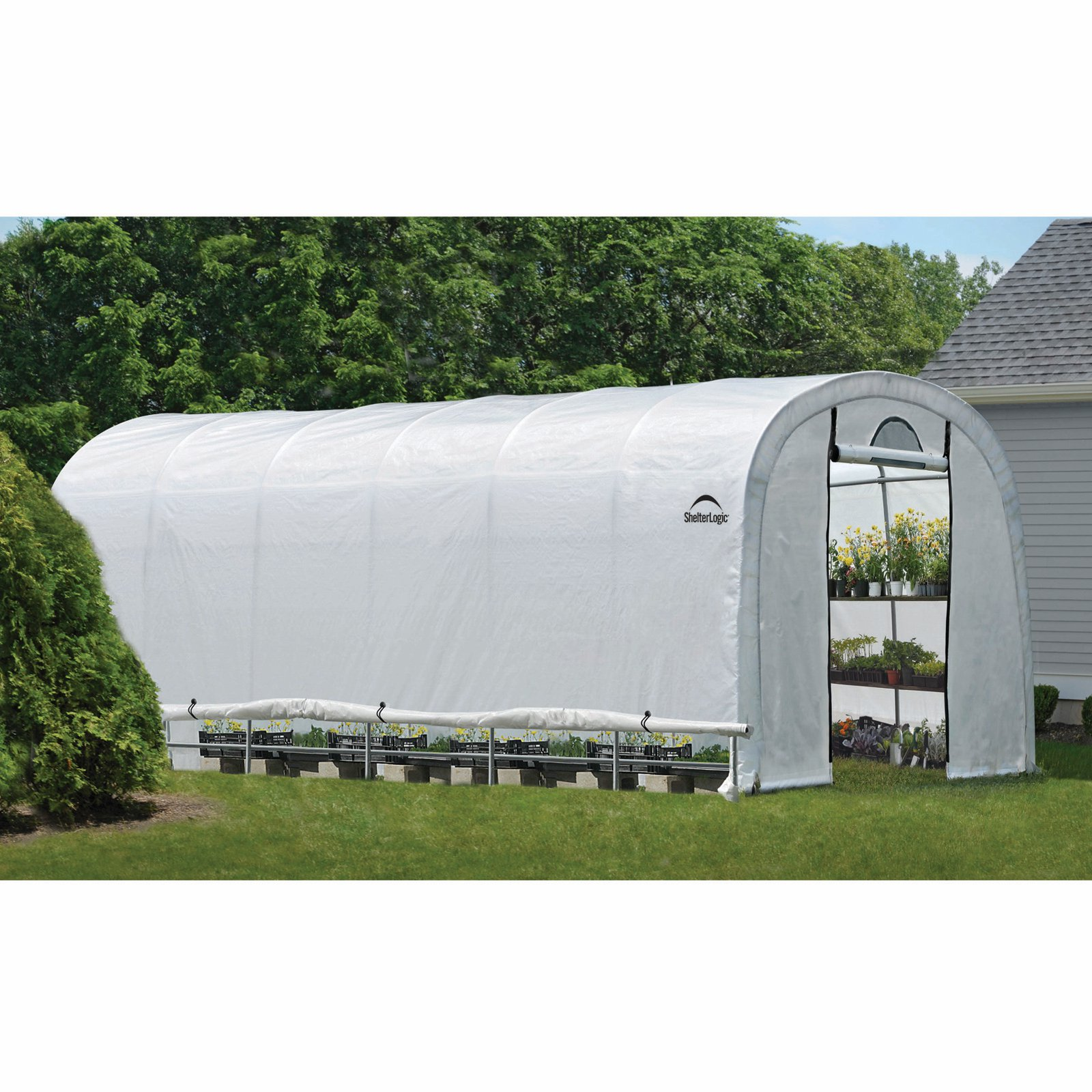 GrowIt Heavy Duty Walk-Thru Greenhouse Round-Style, 12' x 24' x 8'