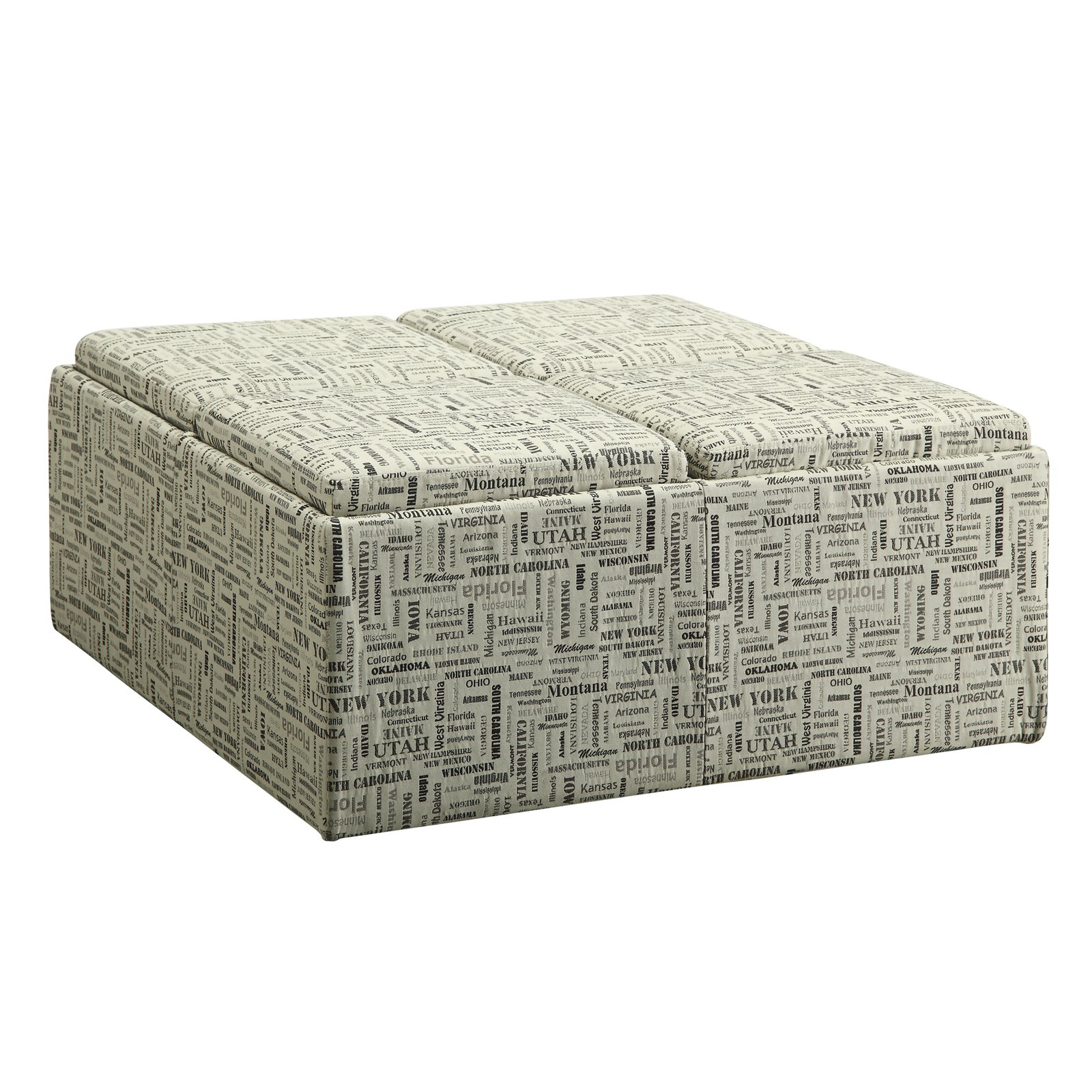 Weston Home Geographical Storage Ottoman
