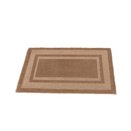 - Plush Two-Toned Double Border Tufted Rug with Ski-Resistant Backing, Home Decor Accent for Any Room, 20