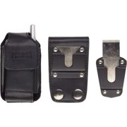 Wireless Solutions Industrial Strength Leather Pouch with Belt Loop for Motorola iDEN i455, i855, i835 - Black