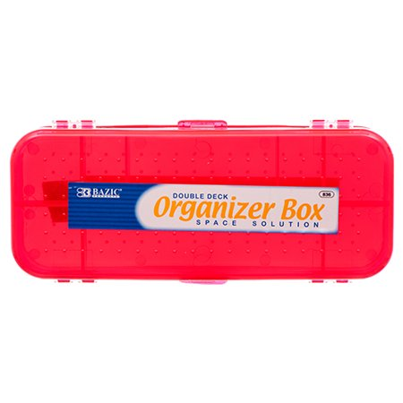 Pencil Boxes In Bulk (New 307654  Plastic Pencil Case Organizer Double Side Bazic (24-Pack) Pencil Cheap Wholesale Discount Bulk Seasonal Pencil Fashion)