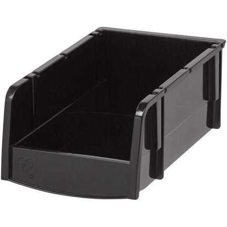 IRIS Hardware Garage Storage Small Bin, Black (Best Storage Ideas For Small Apartments)