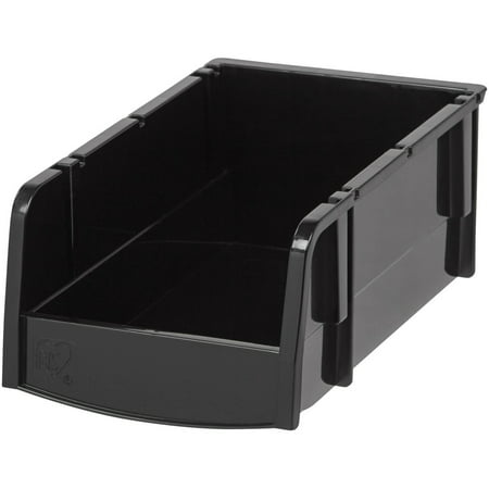 IRIS Hardware Garage Storage Small Bin, Black
