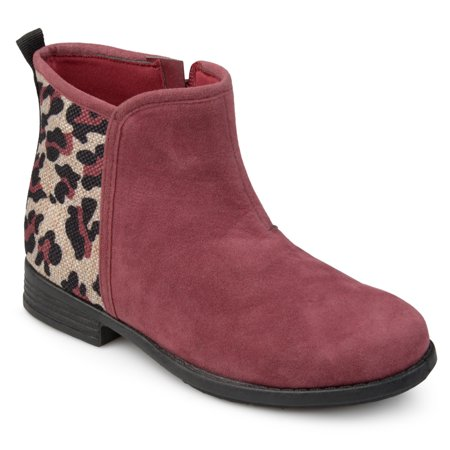 Brinley Co. Toddler Girls' Faux Suede Leopard Print Boots for $<!---->