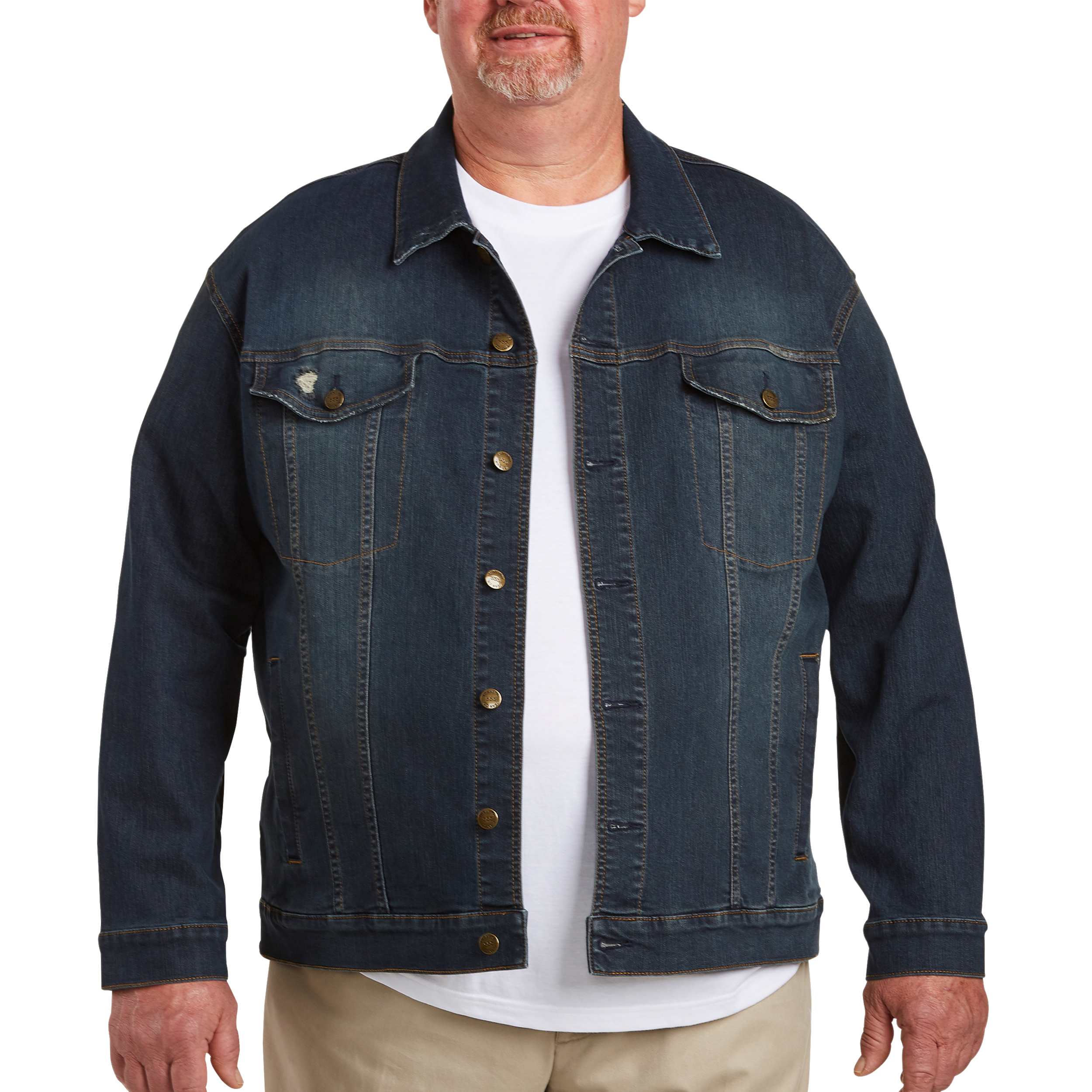 Image of 555 Turnpike Men's Big & Tall Denim Jacket