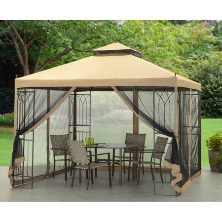 Mainstays gazebo 10 39 x 10 39 - Carpas para patios ...
