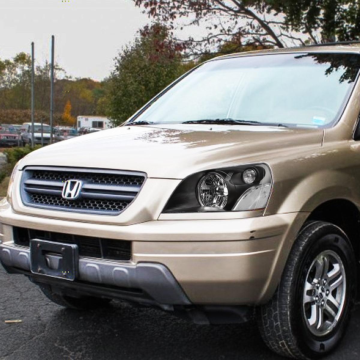 For 2003 To 2005 Honda Pilot Headlight Black Housing Clear Corner Headlamp 04 Left Right