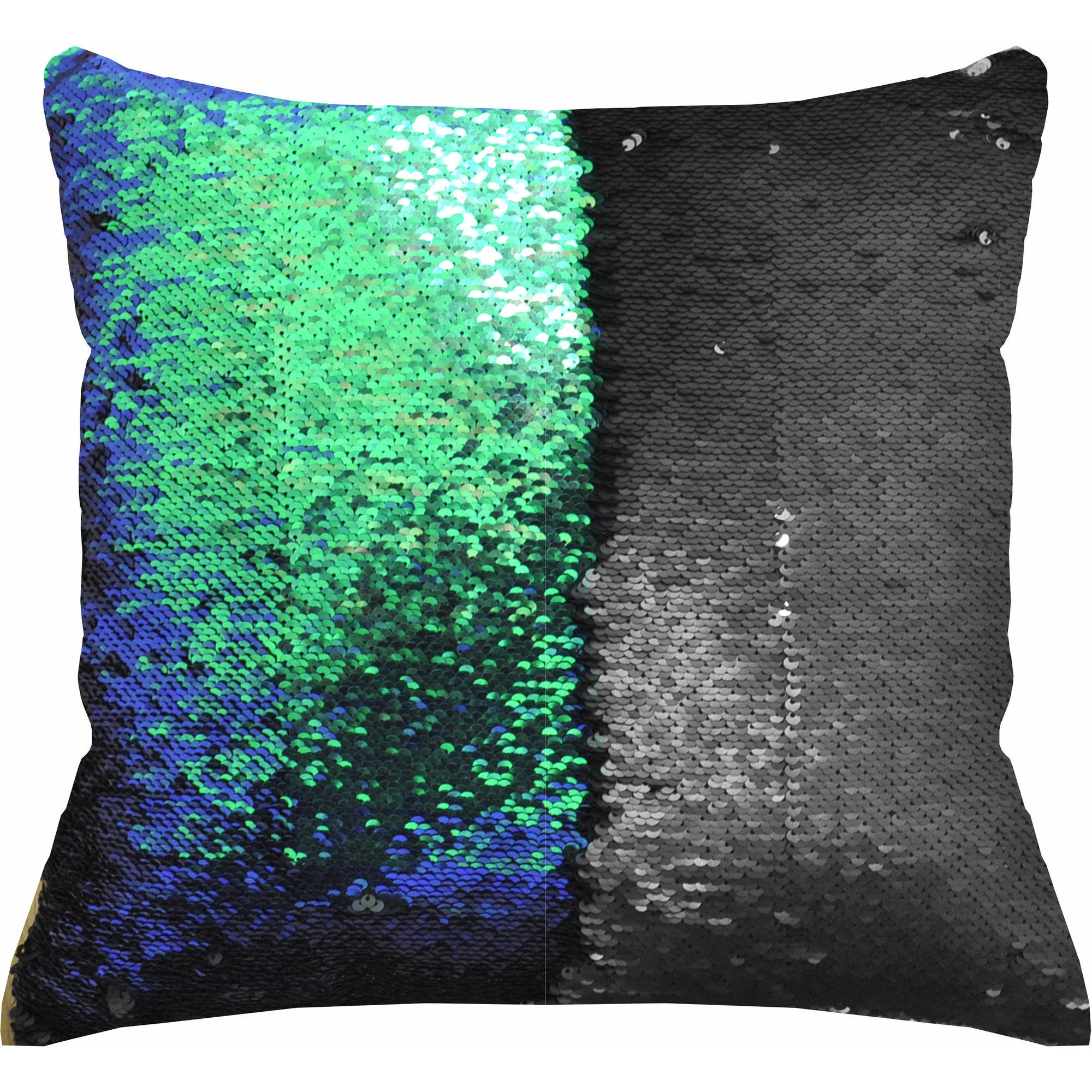 Decorative Throw Pillow Reversible Sequin Pillow Cushion 18x18 ...