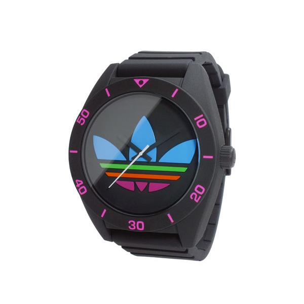 Adidas Men's 49mm Black Silicone Band Plastic Case Quartz Analog Watch adh2970 by Adidas