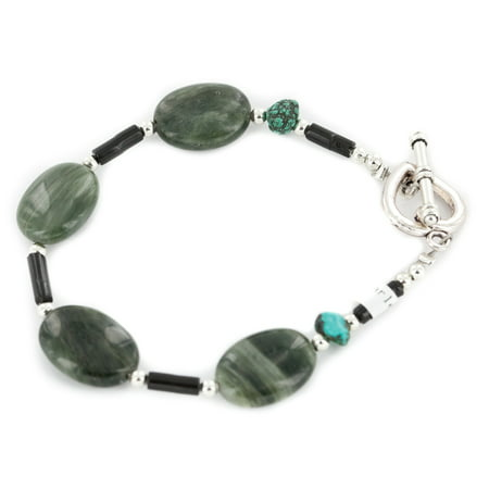 Certified Authentic Navajo Nickel Natural Turquoise Green Jasper Native American