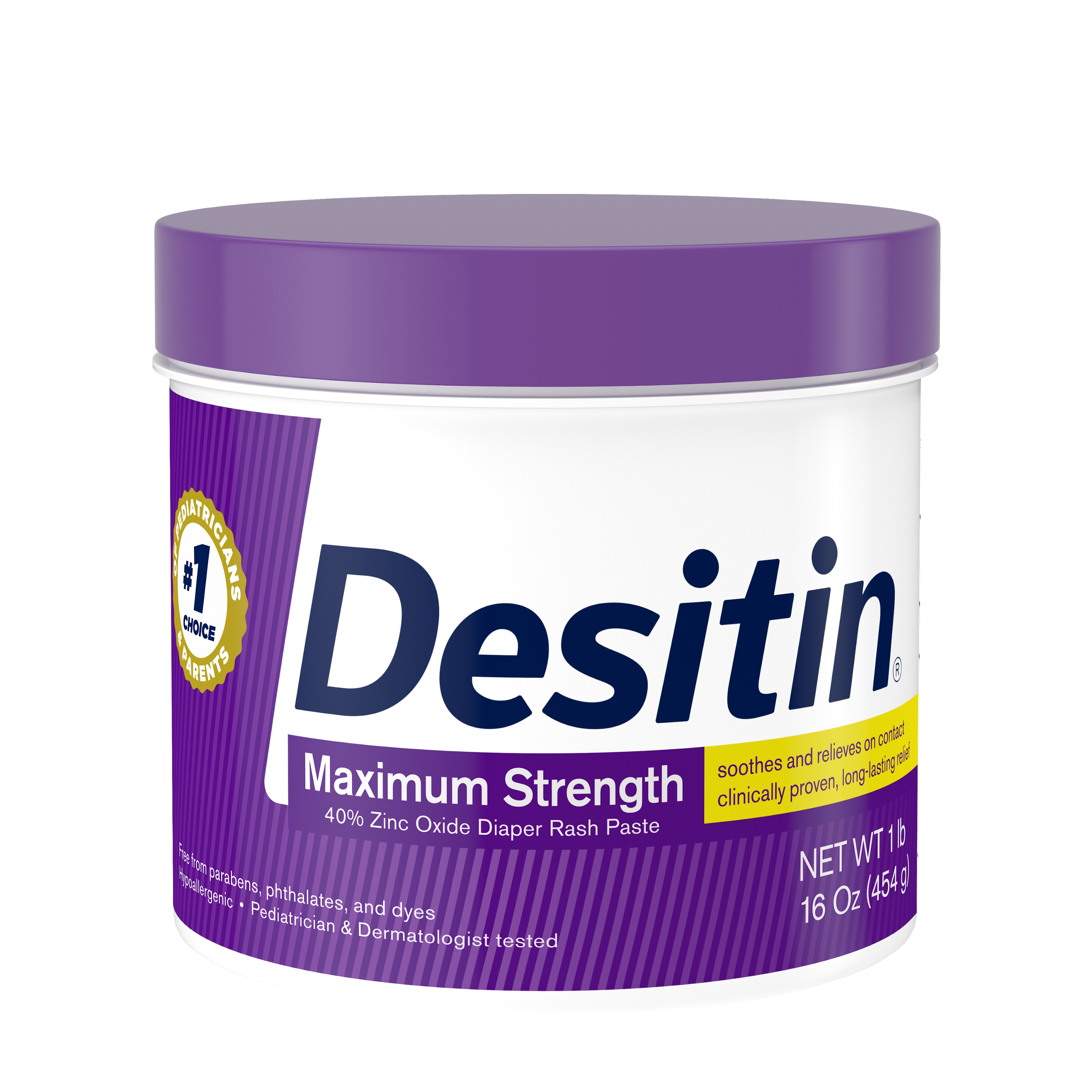 Desitin Maximum Strength Diaper Rash Cream with Zinc Oxide, 16 oz