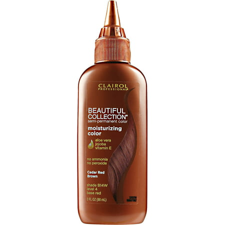 2 Pack Clairol Professional Beautiful Collection Semi Permanent Hair Color Cedar Red Brown