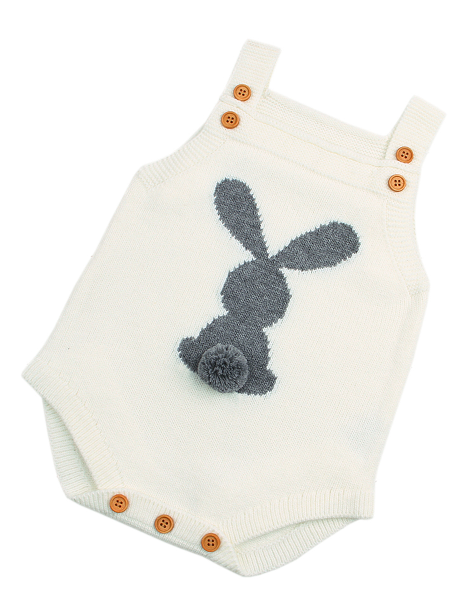 Baby Knit Rompers Clothes Toddler Jumpsuit Easter Bunny Sleeveless Outfit
