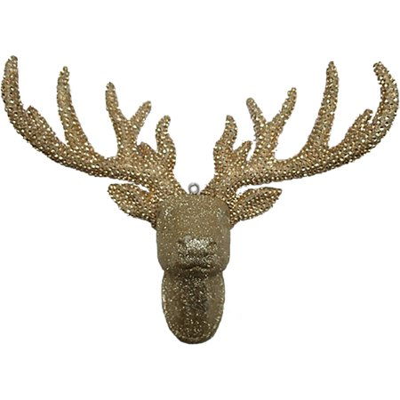 Holiday Time Christmas Decor Pave Champagne Deerhead Deco  Champagne