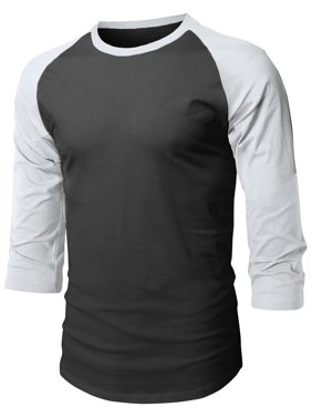 Ma Croix Super Soft Mens 3/4 Sleeve Baseball T Shirt Jersey Fitted Top