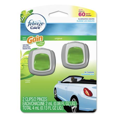 Febreze Car Vent Clips With Gain Original Scent Air Fresheners  0 06 Fl Oz  2 Count