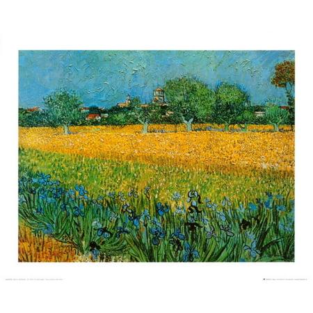View of Arles with Irises Art Print  By Vincent van Gogh