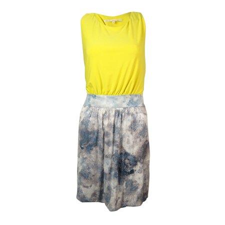 RACHEL Rachel Roy Women's Twist Back Jersey Sequined Dress (12, Dragonfly)
