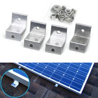 iJDMTOY (4) Solar Panel Aluminum Z Shape Mounting Brackets For RV Boat Off Grid and Household Flat Roof or Wall Mount