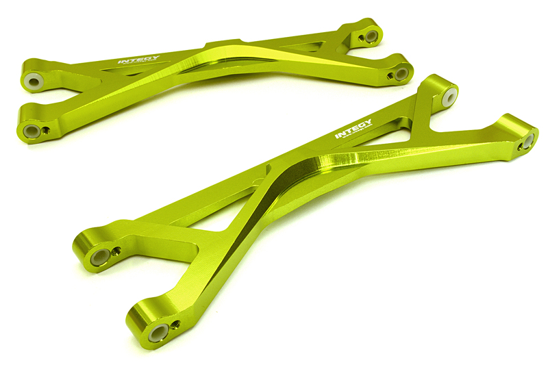 Integy RC Toy Model Hop-ups C26836GREEN Billet Machined Upper Suspension Arms for Traxxas... by Integy