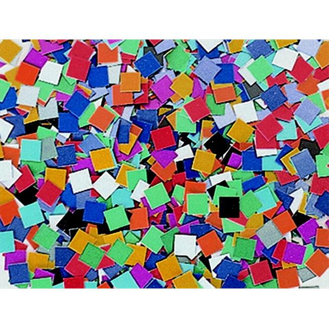 School Smart 085723 Colorful Square Mosaic Card Stock Pack, 0.38 In. - Pack Of 10000