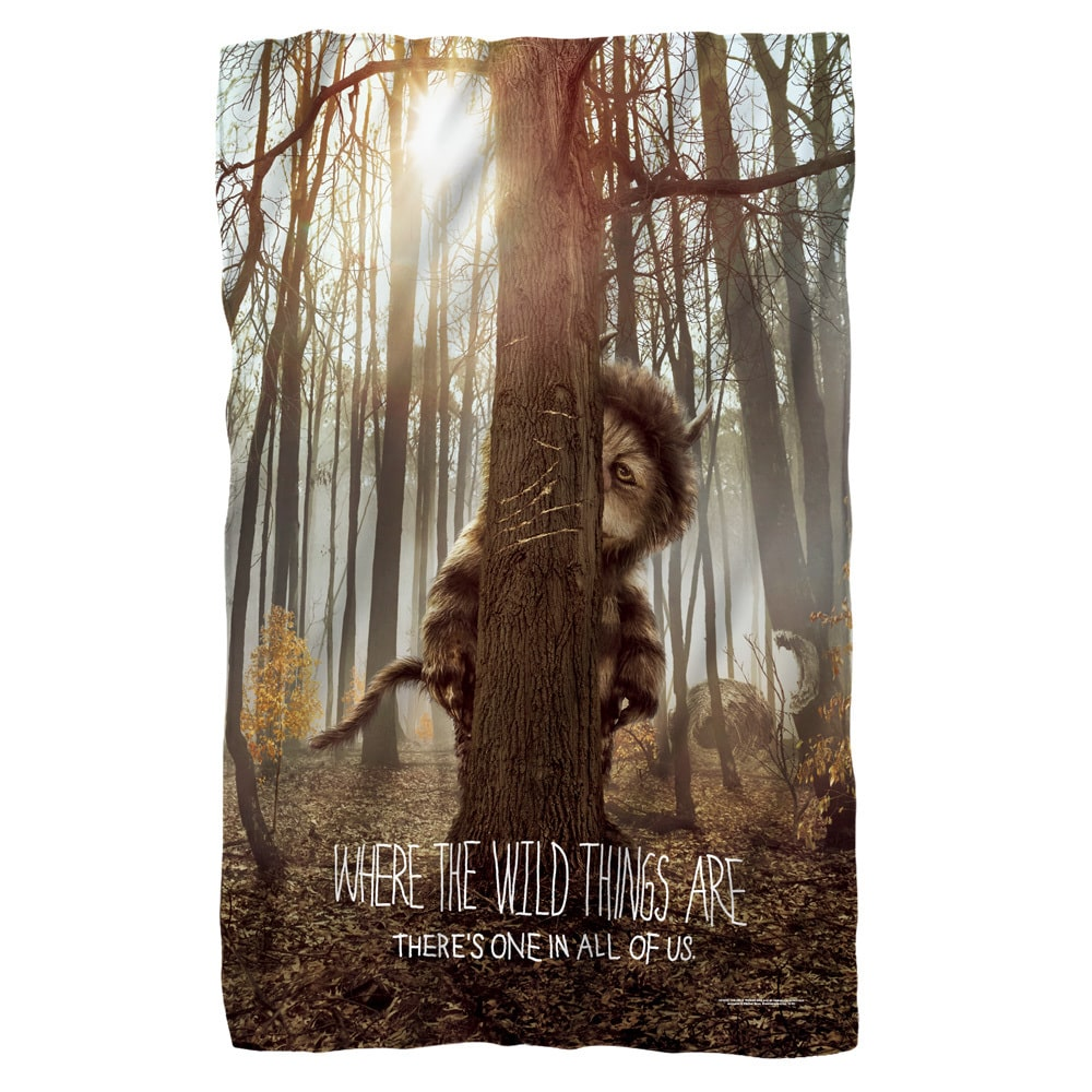 Trevco Where The Wild Things Are/Wild Thing Tree White Polyester Blanket