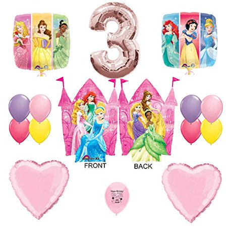 Disney Princess Party Supplies 3rd Birthday Party Balloon Decorations (Princess Birthday Theme)