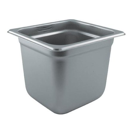 1/6 Steam Pan (Winco - SPJL-606 - 1/6 Size 6 in Deep Steam Table Pan)