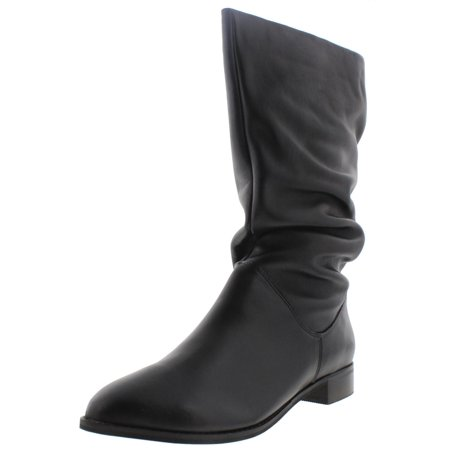 bb4c7f86d5b Dune London Womens Rosalind Leather Slouchy Mid-Calf Boots