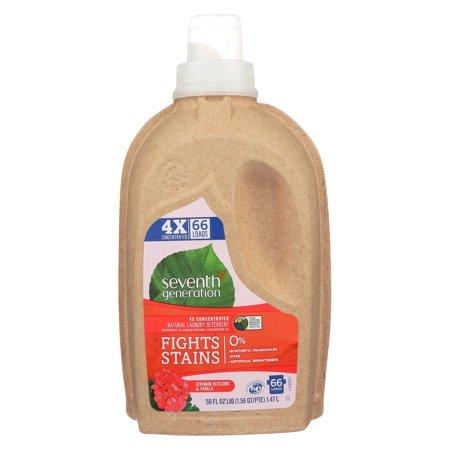 Vanilla Blossom - Seventh Generation 4X Ultra Concentrated Liquid Laundry Detergent, Geranium Blossom & Vanilla, 50 Oz, 66 Loads