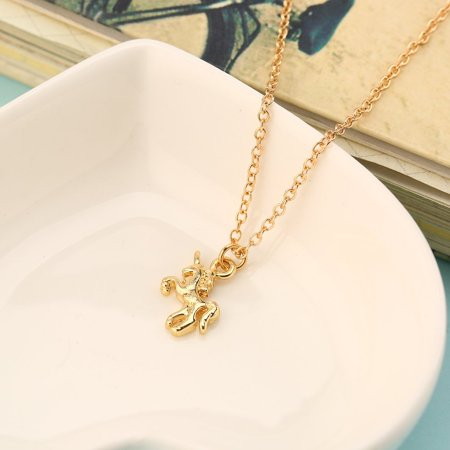 Nickel-free Alloy Pendant Necklace With Unicorn Shape Pendant for Women & Girl - image 4 of 10