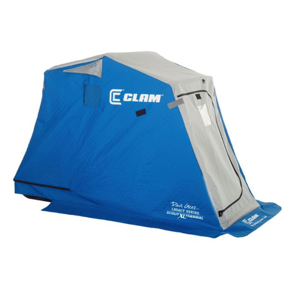Clam Scout XL Thermal Ice Shelter - 1 Man - Mesh Seat