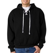 Weatherproof 7476 Adult Hockey Hooded Sweatshirt - Black, 2XL