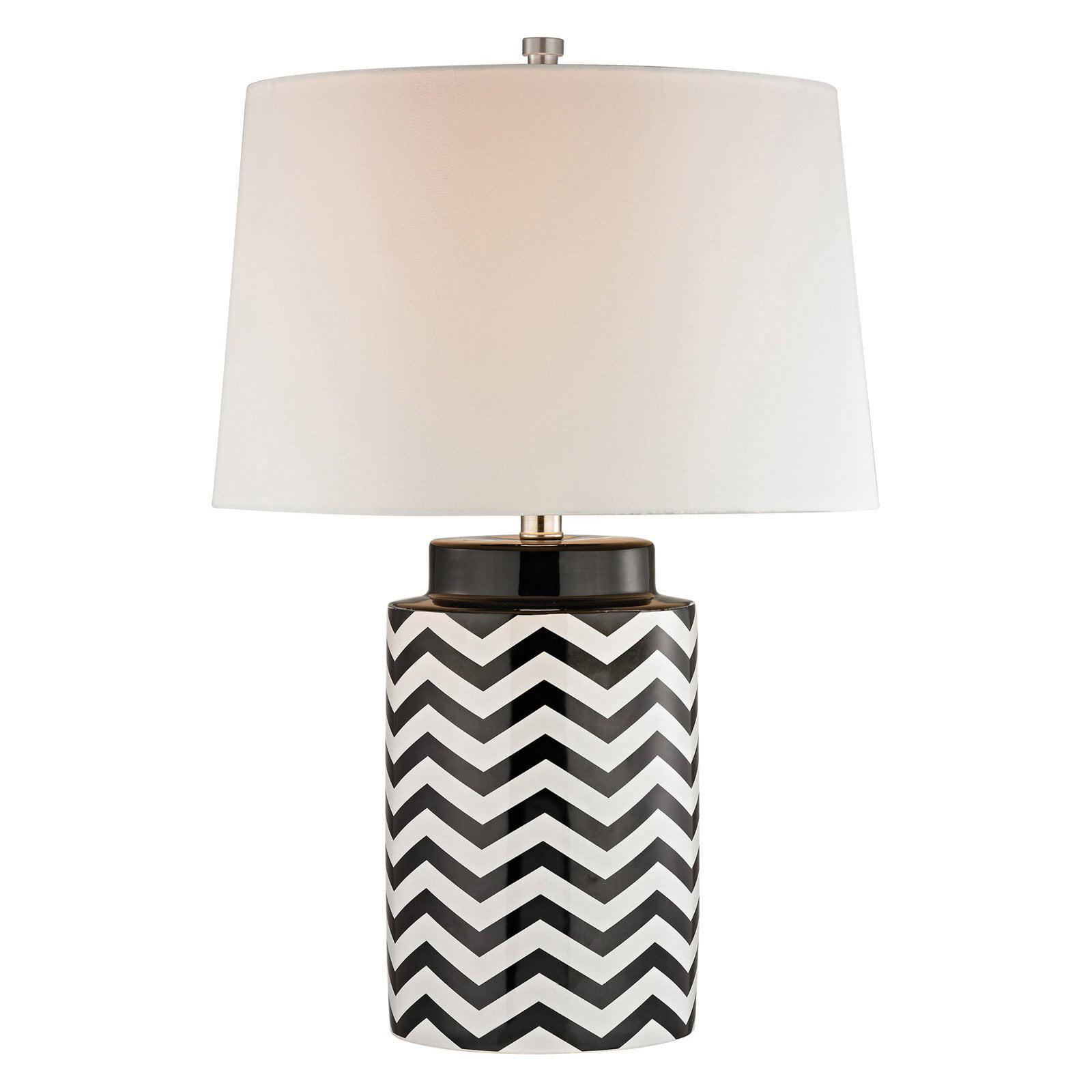Elk Lighting Chevron Table Lamp Black And White